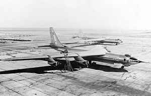 Warbird Picture - YB-60 prototype, Convair B-36F-5 is in the background.