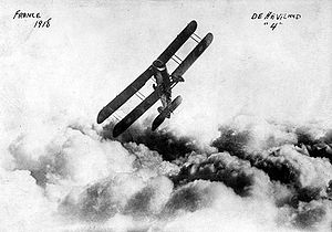 Warbird Picture - DH.4 above the clouds in France
