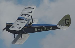 Warbird Picture - The Shuttleworth Collection's Cirrus III powered Moth. It was the eighth produced, delivered 29 August 1925 and retains the early single axle