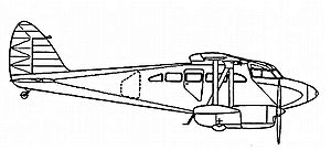 Warbird Picture - Side drawing of the D.H. 92 Dolphin.