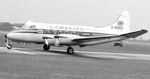 Warbird Picture - de Havilland DH.114 Heron 2 of Cambrian Airways on a scheduled service in April 1958