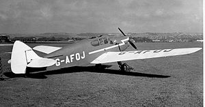 Warbird Picture - DH.94 Moth Minor Coupe at Portsmouth Airport in September 1954