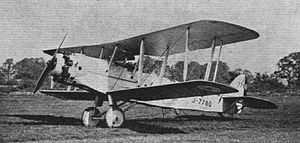 Warbird Picture - The DH.56 Hyena J-7780