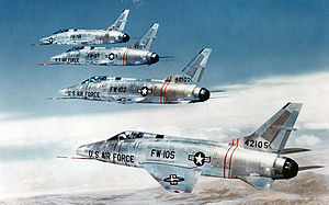 Warbird Picture - A formation of four F-100Cs