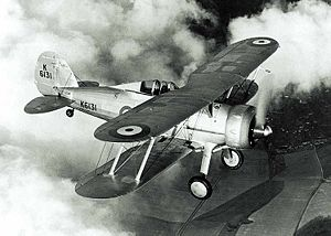Warbird Picture - Gloster Gladiator in pre-war RAF markings