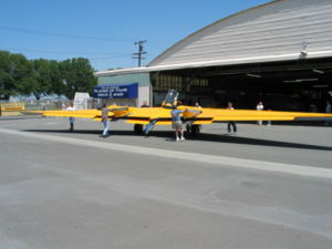 Warbird Picture - The restored N-9MB Flying Wing at the Planes of Fame Air Museum