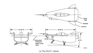 Airplane Picture - NASA M2-F1 Lifting Body Diagram