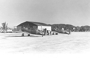 Warbird Picture - Two A-27s of the 17th Pursuit Squadron at Nichols Field, Philippines, in 1941.