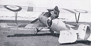 Airplane Picture - Charles Nungesser with his Nieuport 24bis.