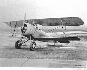 Airplane Picture - Nieuport 27 serving with the U.S. forces as an advanced trainer in 1918