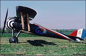 Airplane Picture - Reproduction of the Nieuport 28 at the National Museum of the United States Air Force