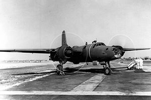 Warbird Picture - North American XB-28 with engines running.