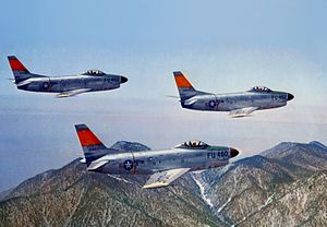 Warbird Picture - Early USAF F-86D-1-NA fighters