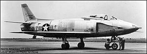Warbird Picture - The first YF-93A with NACA inlets