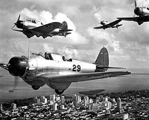 Warbird Picture - Northrop BT-1s over Miami in October 1939