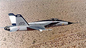 Warbird Picture - YF-17 in flight over the desert.