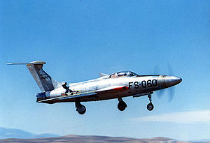 Warbird Picture - XF-84H 51-17060 in flight