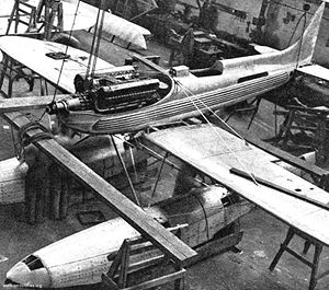 Warbird Picture - A Supermarine S.6B under construction, showing the Rolls-Royce R engine