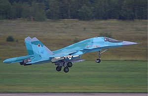 Warbird Picture - Su-34 taking off