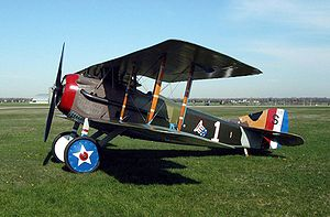 Warbird Picture - SPAD S.XIII in the colors and markings of Capt. Eddie Rickenbacker, U.S. 94th Aero Squadron. This aircraft is on display at the National Museum of the U.S. Air Force near Dayton, Ohio.