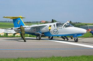 Warbird Picture - Swedish Air Force Saab 105 in Payerne, 2004