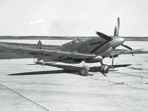 Warbird Picture - A Seafire XV in Royal Canadian Navy service.