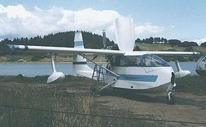 Warbird Picture - Spencer Air Car at Mill Valley Seaplane base near San Francisco in April 1989 with engine cowling open