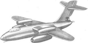 Warbird Picture - Drawing of Su-10 prototype
