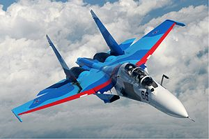 Warbird Picture - Su-30 of the Russian Air Force in flight over Russia