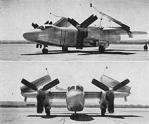 Warbird Picture - The XA2J-1 with folded wings