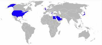 Airplane Picture - World map of military operators of the AH-64 Apache. Current military operators in blue.