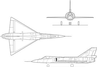 Airplane picture: F-106 Drawing