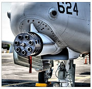Airplane Pictures - A-10 30 mm GAU-8 Gatling gun