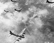 Airplane Pictures - B-17F formation over Schweinfurt, Germany, 17 August 1943