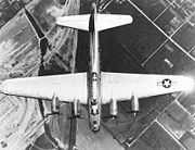Airplane Pictures - Overhead view of B-17 Flying Fortress