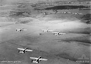Airplane Pictures - B-25 Mitchell bombers from No. 18 (NEI) Squadron RAAF on a training flight near Canberra in 1942