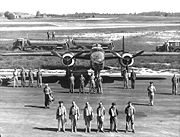 Airplane Pictures - Lt. Peddy and crew, showing how many people were required to keep a B-25 flying