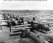 Airplane Pictures - Doolittle Raid B-25Bs aboard USS Hornet