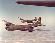 Airplane Pictures - YB-29 Superfortresses in flight