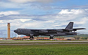 airplane pictures - A B-52H Stratofortress of the 2d Bomb Wing lands at Andersen Air Force Base, Guam.