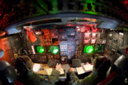 airplane pictures - Lower deck of the B-52 dubbed the battle station.