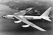 airplane pictures - Side view of YB-52 bomber
