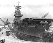 USS Yorktown at Pearl Harbor days before the battle