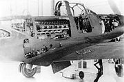 Warbird Picture - Bell P-39 Airacobra center fuselage detail with maintenance panels open
