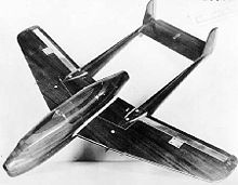 Airplane Picture - Bell XP-59 wind tunnel model. Original pusher-propeller design.