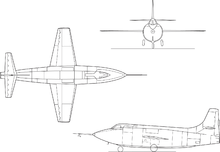 Airplane Picture - X-1E line drawing