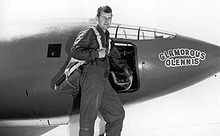 Airplane Picture - Chuck Yeager in front of the X-1, which he named Glamorous Glennis after his wife.
