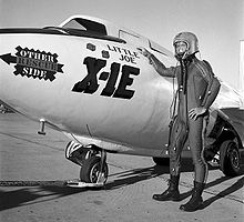 Airplane Picture - The X-1E, christened 'Little Joe', with pilot Joe Walker.