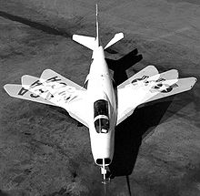 Airplane Picture - A composite photograph showing the Bell X-5's variable-sweep wing.