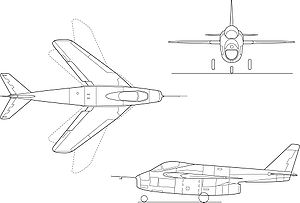 Airplane picture - X-5 diagram